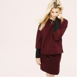 [Lou & Grey] Ottoman Stripe Sweatshirt 3/4 sleeve